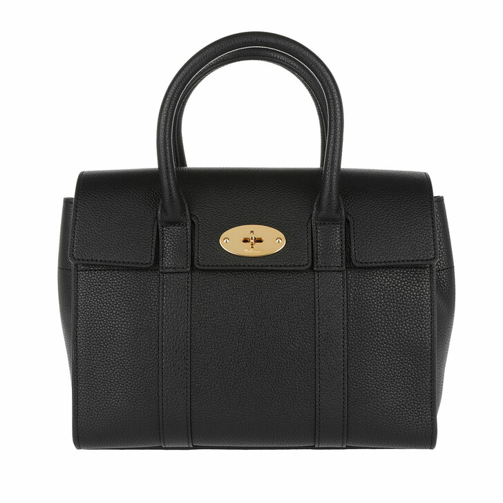 Handtasche, Mulberry, Bayswater Small Tote Classic Grain Black