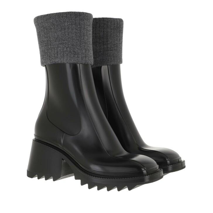 Schuh, Chloé, Betty Rain Boots Black