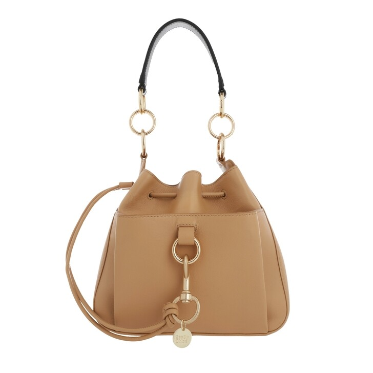 Handtasche, See By Chloé, Tony Bucket Bag Medium Leather Soft Tan