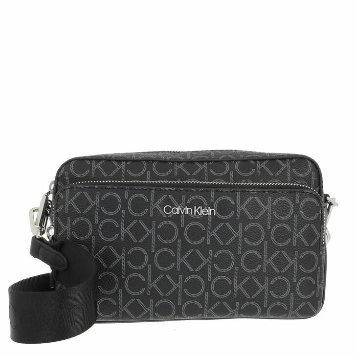 bags, Calvin Klein, CK Must Camera Bag With Pkt Large Mono Black Mono