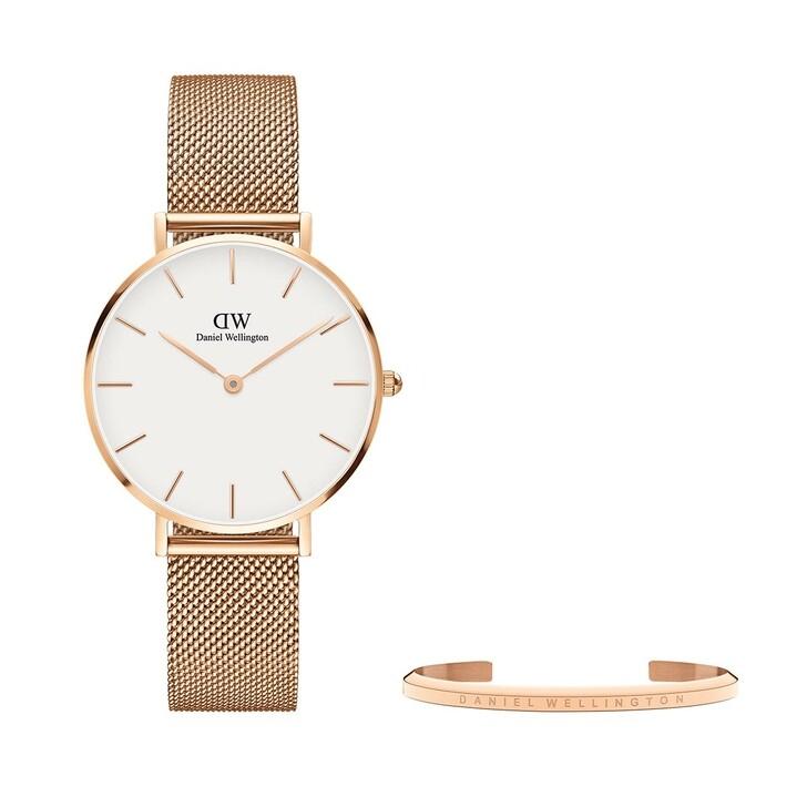 Uhr, Daniel Wellington, Melrose 32mm + Classic Bracelet small White+Rose Gold