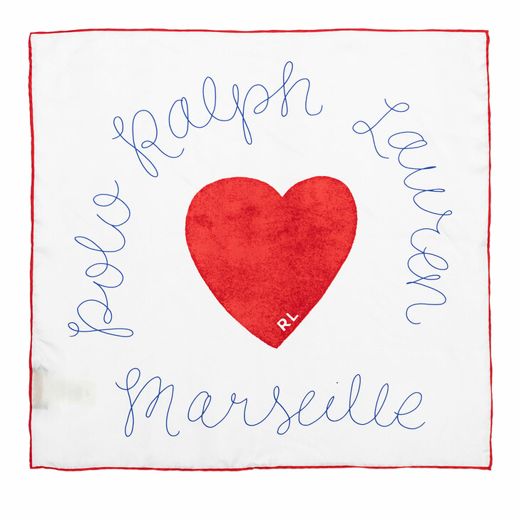 Schal, Polo Ralph Lauren, Heart Bandana Red Multi