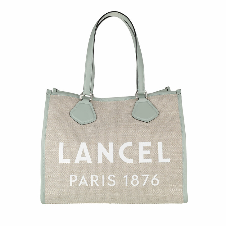 Handtasche, Lancel, Summer Jute Canvas And Smooth Leather Tote Large Natural/Maldives
