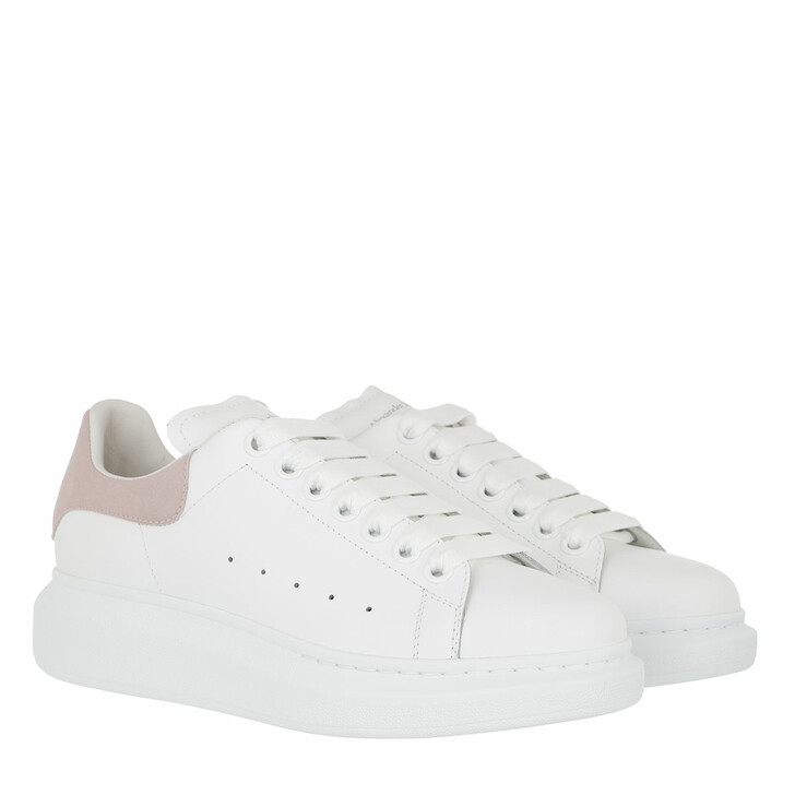 shoes, Alexander McQueen, Sneakers Leather White/Patchouli