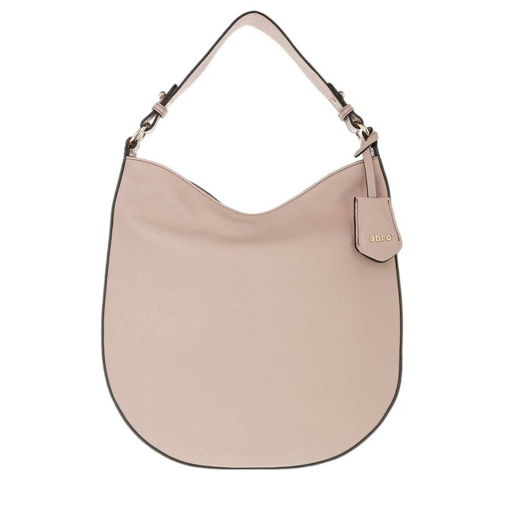 Handtasche, Abro, Adria Leather Hobo Bag Powder