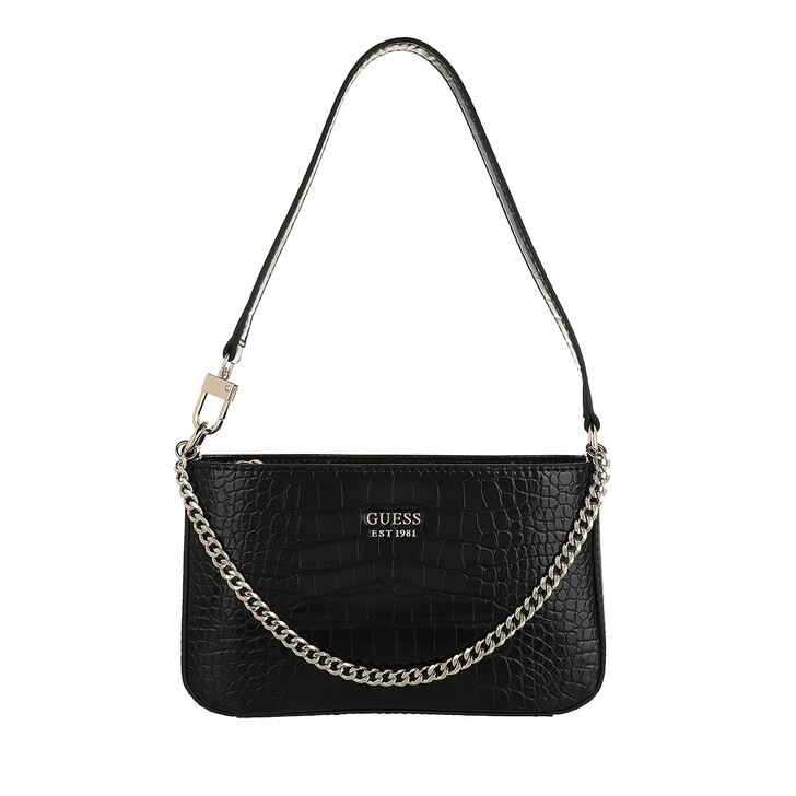 bags, Guess, Katey Mini Top Zip Shoulder Black