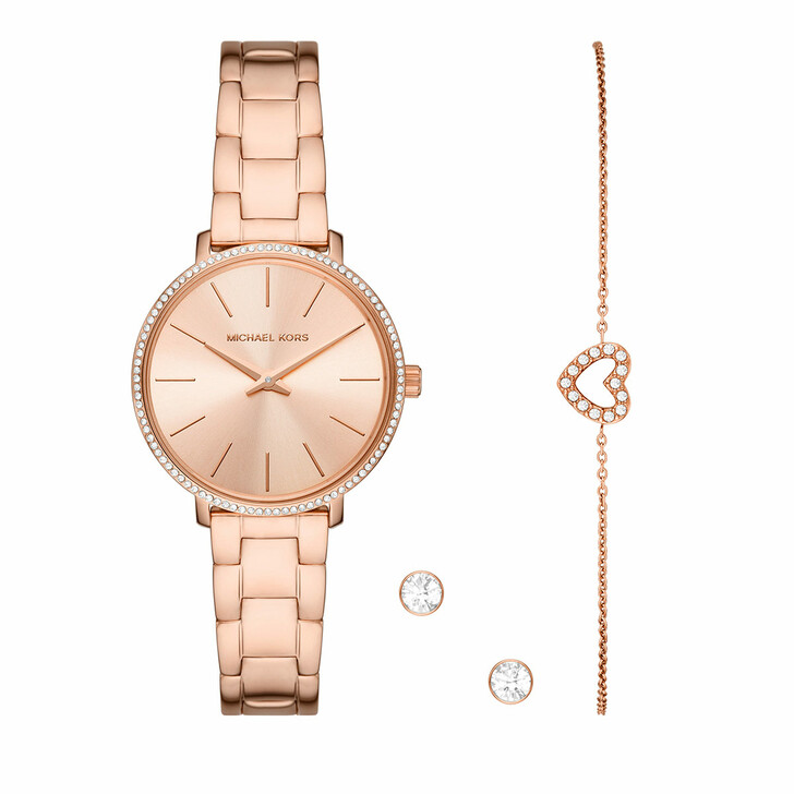Uhr, Michael Kors, Pyper Watch and Jewelry Gift Set Rose Gold-Tone
