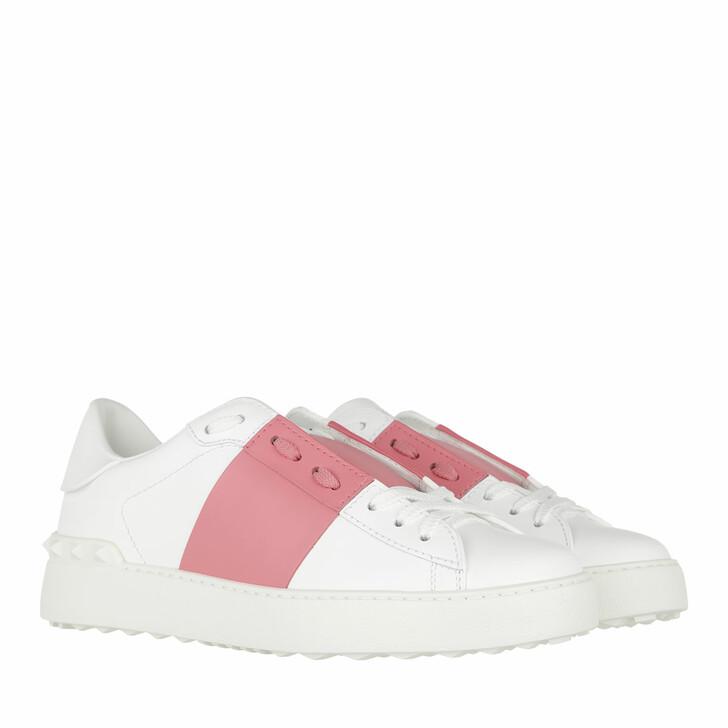 Schuh, Valentino Garavani, Bicolor Rockstud Sneaker White/Flamingo Pink