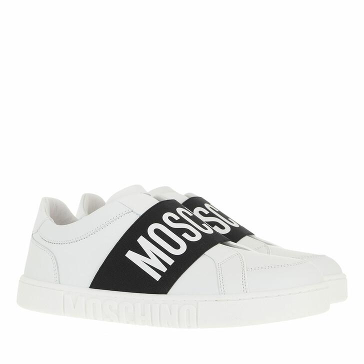 shoes, Moschino, Sneakerd Logo25 Vitello  Bianco