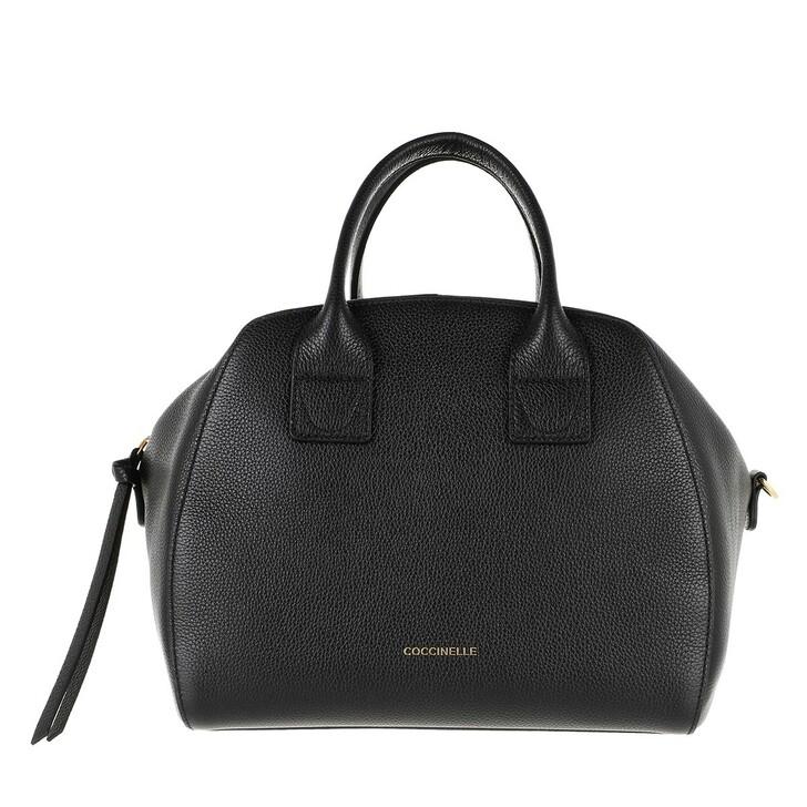Handtasche, Coccinelle, Concrete Journal Handle Tote Bag Noir