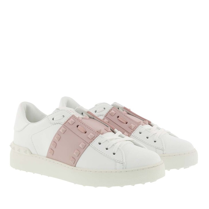 Schuh, Valentino, Rockstud Sneakers White Rose