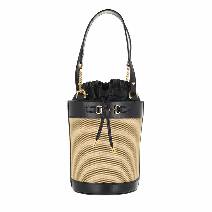 Handtasche, Gucci, Small Horsebit 1955 Bucket Bag Beige/Blue