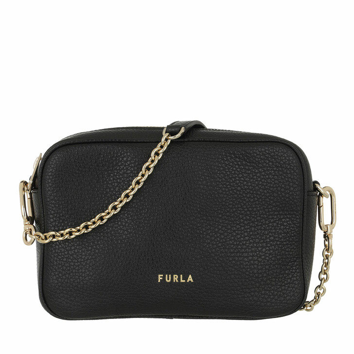 bags, Furla, Furla Real Mini Camera Case Nero