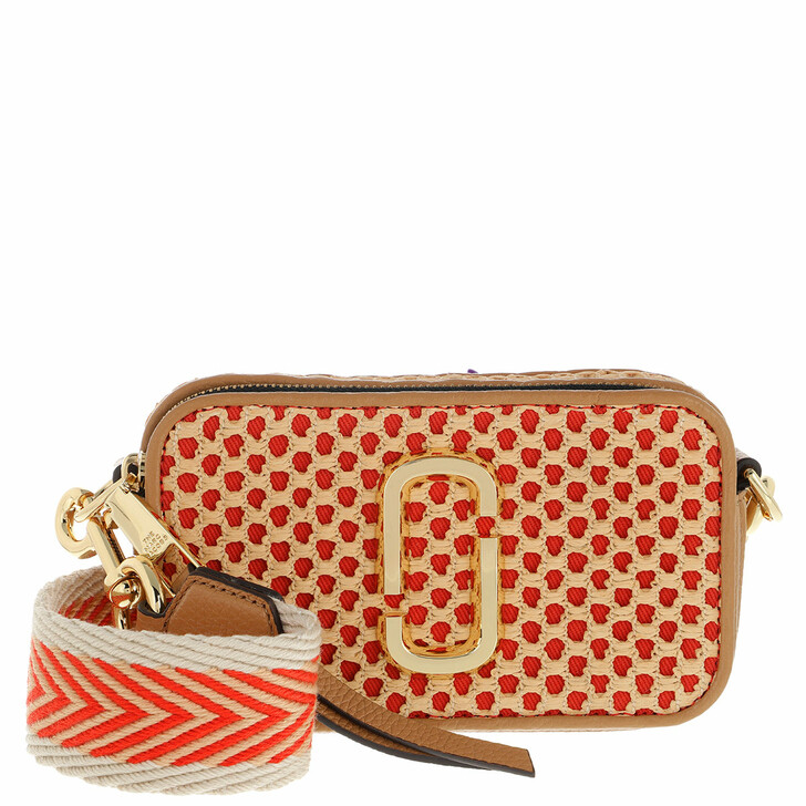 bags, Marc Jacobs, The Snapshot Cane Textured Leather Medium Tan
