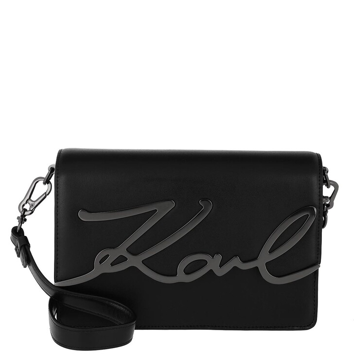 Handtasche, Karl Lagerfeld, Signature Shoulderbag Black