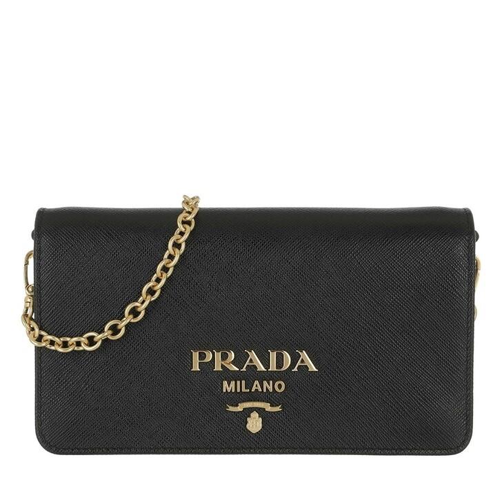 Handtasche, Prada, Mini Shoulder Bag Saffiano Leather Black