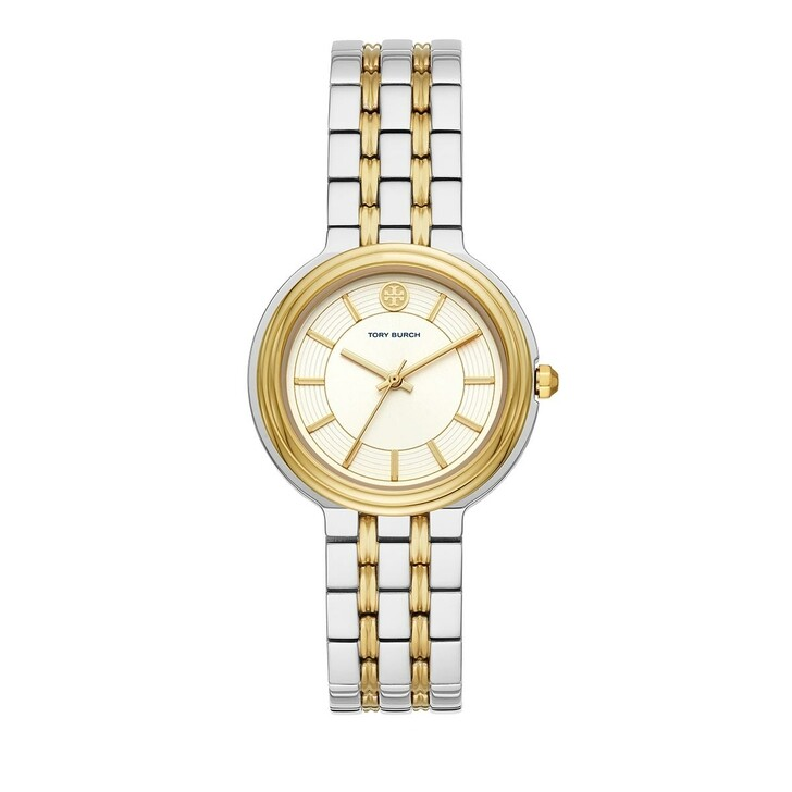 watches, Tory Burch, Bailey Three-Hand Stainless Steel Watch Silver/Gold Two-Tone