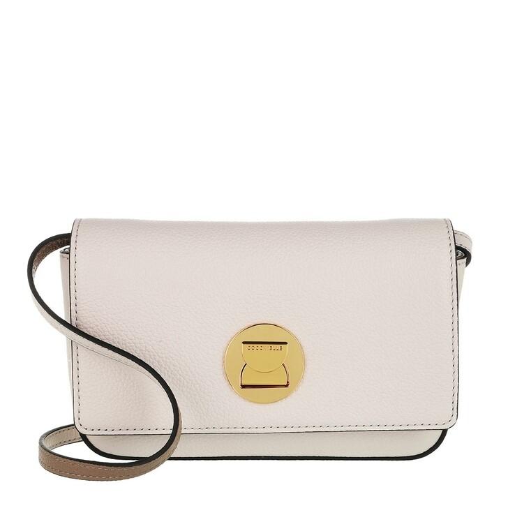 Handtasche, Coccinelle, Mini Liya Lambskin White/Taupe