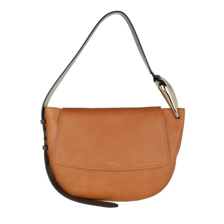 bags, Chloé, Kiss Shoulder Bag Leather Arizona Brown