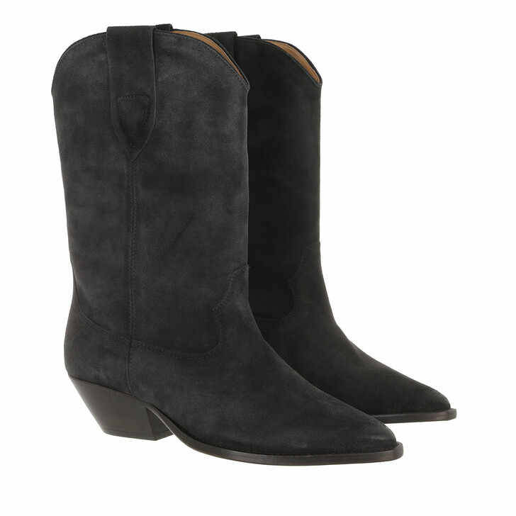 shoes, Isabel Marant, Duerto Boots Suede Leather Faded Black