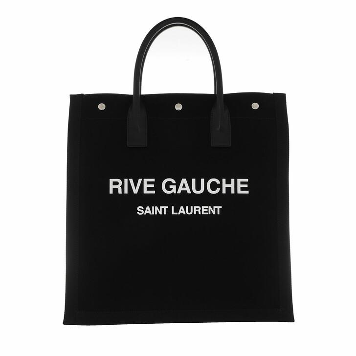 Handtasche, Saint Laurent, Rive Gauche Shopping Bag Black White