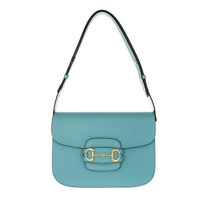 Handtasche, Gucci, 1955 Horsebit Shoulder Bag Leather Dusty Azure