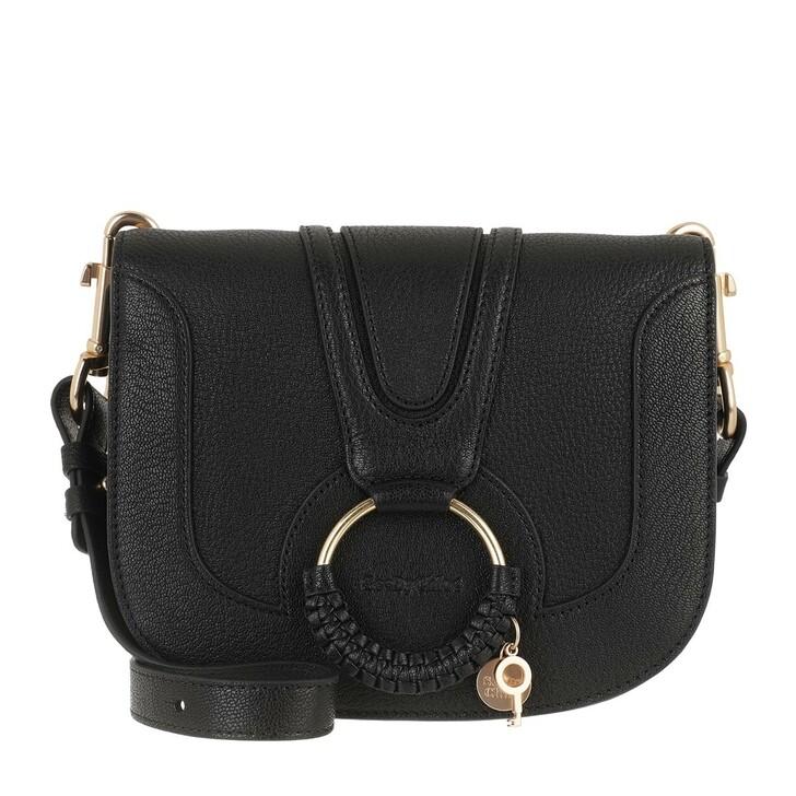 bags, See By Chloé, Hana Medium Shoulder Bag Black