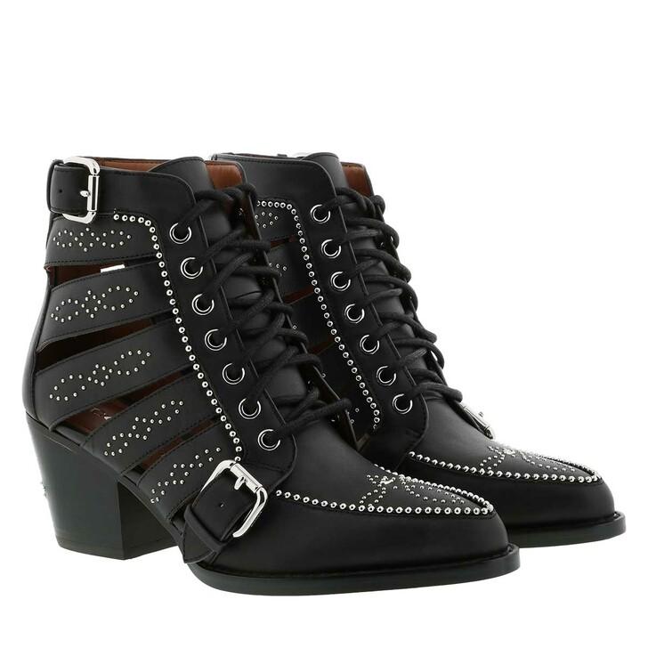 Schuh, Coach, Paisley Bootie Leather Black