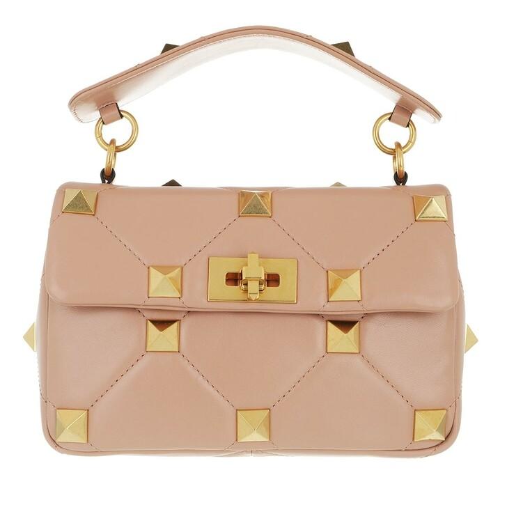 Handtasche, Valentino Garavani, Roman Stud Medium Crossbody Bag Leather Rose Rose
