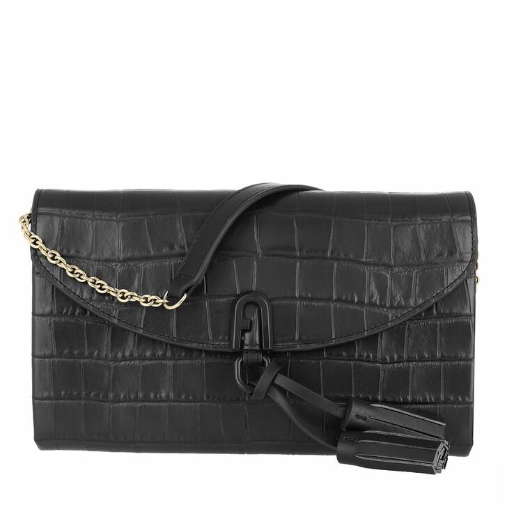 Handtasche, Furla, 1927 Mini Shoulder Bag Nero