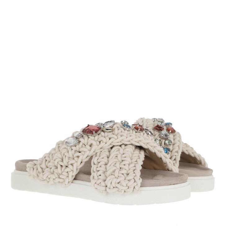 Schuh, INUIKII, Slipper Woven Stones  White