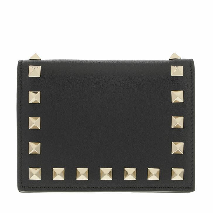 wallets, Valentino Garavani, Rockstud Small Wallet Black