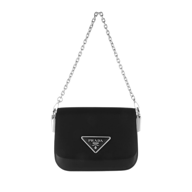 Handtasche, Prada, Shoulder Bag Nylon Leather Black