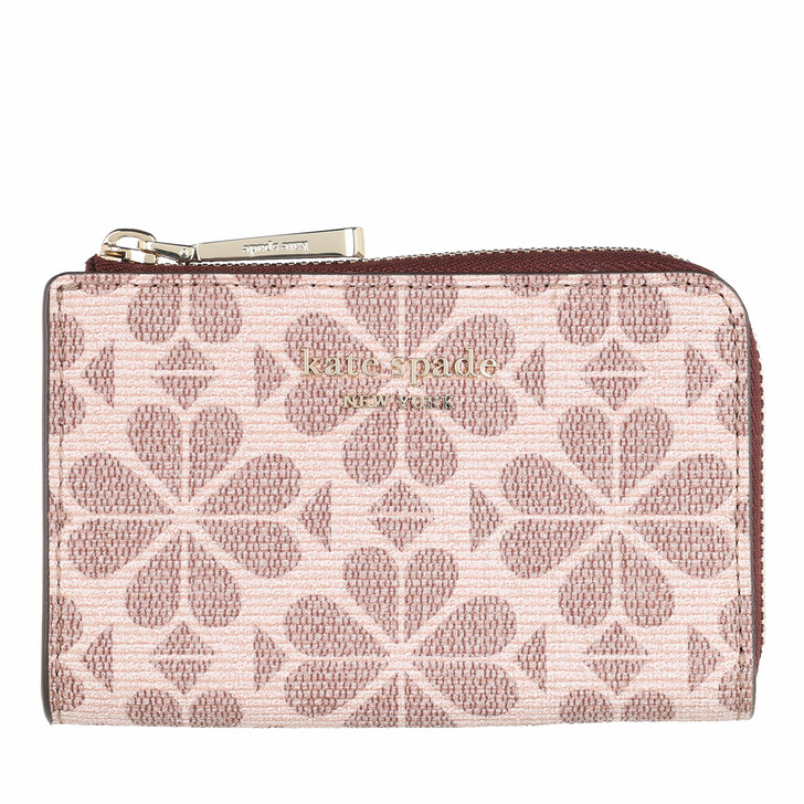 keyrings, Kate Spade New York, Spade Flower Coated Canvas Key Pouch  Pink Multi