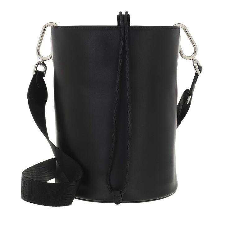 Handtasche, Furla, Furla Lipari M Bucket Bag - Vitello Roma+Nastro Lo Nero