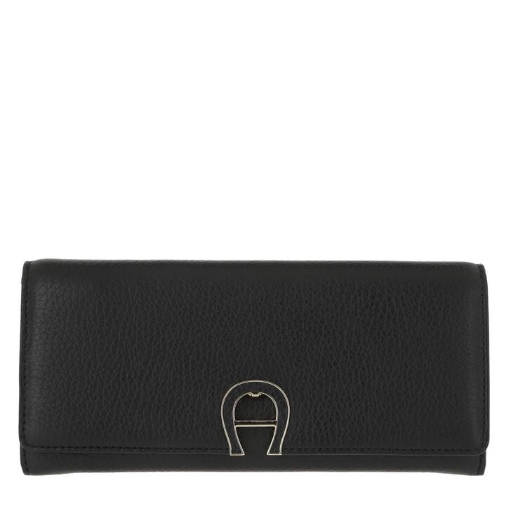 Geldbörse, AIGNER, Wallet Black