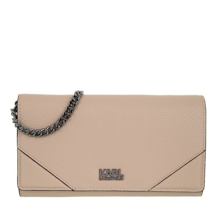 wallets, Karl Lagerfeld, K/Stone Wallet On Chain A190 Beige blus