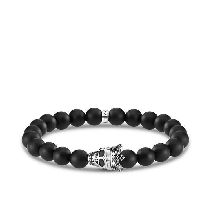 Armreif, Thomas Sabo, Bracelet Skull King Black/Silver