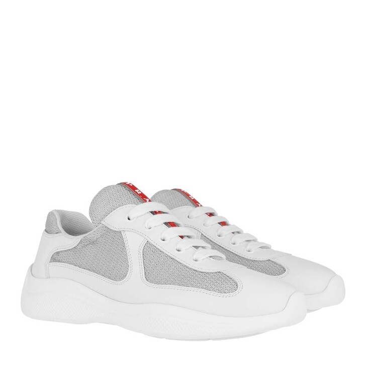 Schuh, Prada, New America's Cup Sneakers White/Silver