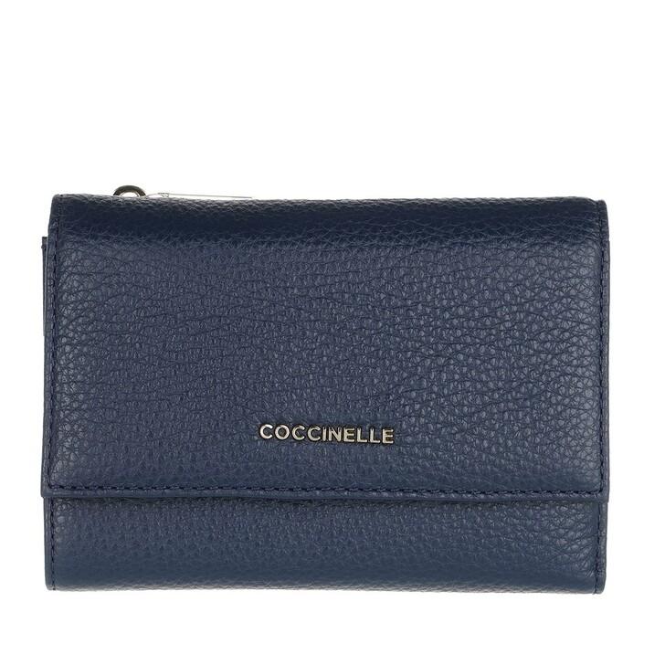 Geldbörse, Coccinelle, Metallic Soft Wallet Leather  Ink