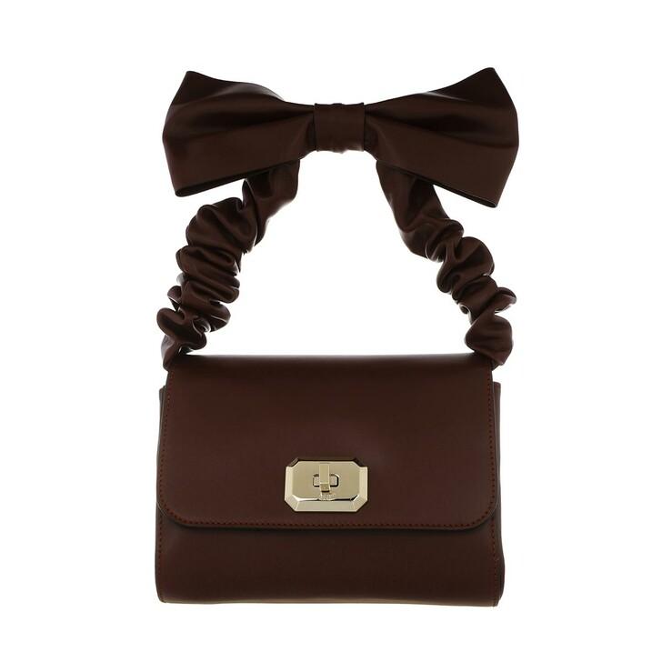 Handtasche, Red Valentino, Top Handle Bag Aubergine