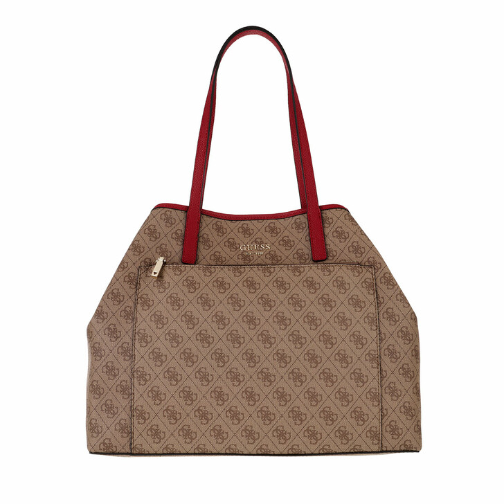 bags, Guess, Vikky Large Roo Tote Latte Logo