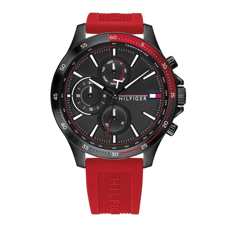 Uhr, Tommy Hilfiger, Men Multifunctional Watch Bank Red