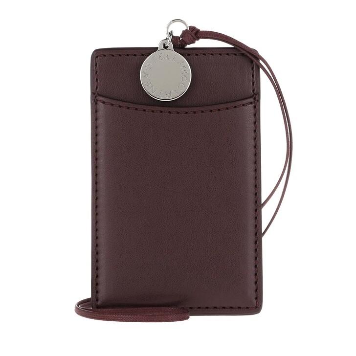 wallets, Stella McCartney, Card Holder Eco Alter Nappa Burgundy