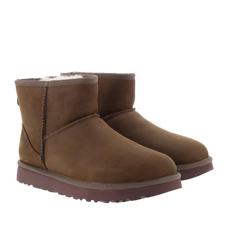 Schuh, UGG, W Classic Mini Leather Chestnut