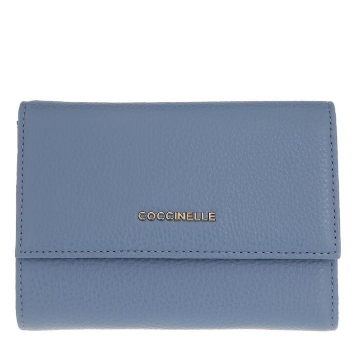 Geldbörse, Coccinelle, Metallic Soft Wallet Pacific Blue
