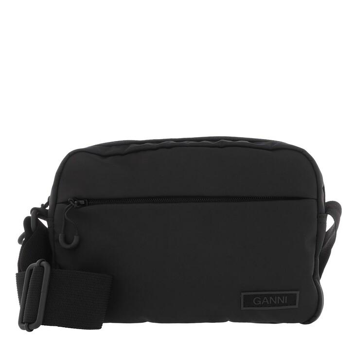 Handtasche, GANNI, Festival Crossbody Bag Recycled Fabric Black