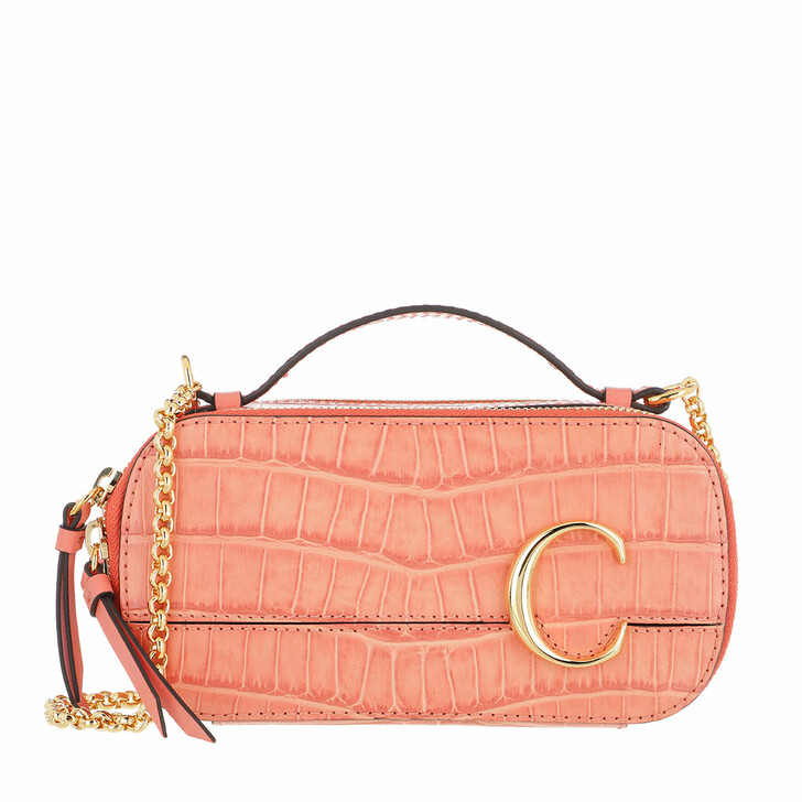 Handtasche, Chloé, Crossbody Bag Leather Sunny Coral