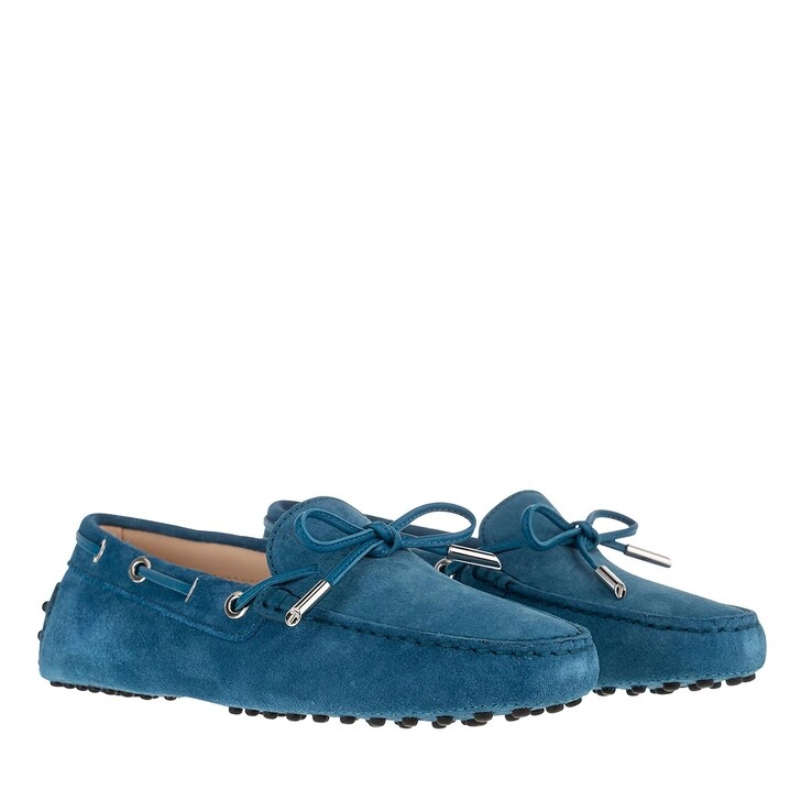 Schuh, Tod's, Gommino Loafer Suede Blue