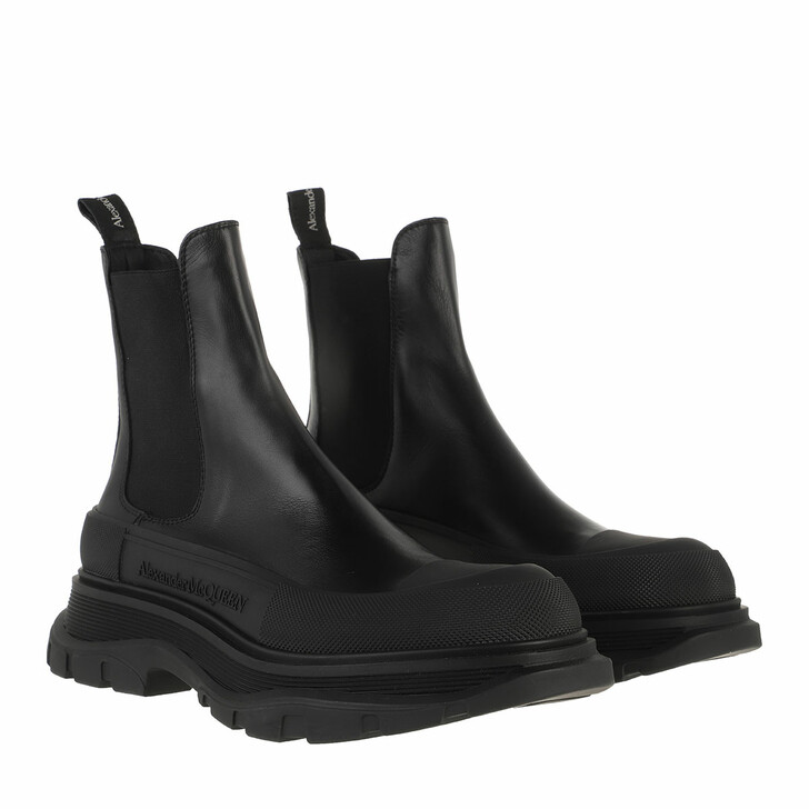 shoes, Alexander McQueen, Chunky Sole Boots Black/Silver